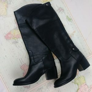 Patricia Nash LORETTA Leather Riding Boots Black